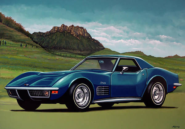 Wall Art - Painting - Chevrolet Corvette Stingray 1971 Painting by Paul Meijering