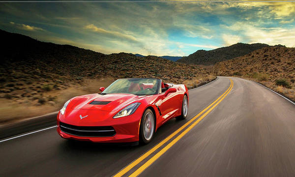 Photograph - Chevrolet Corvette Stingray Convertible by Movie Poster Prints
