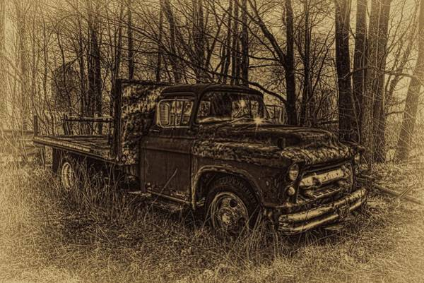 Photograph - Chevrolet Flatbed Sepia by Dale Kauzlaric