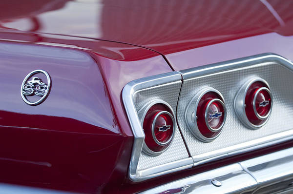 Photograph - Chevrolet Impala Ss Taillight 2 by Jill Reger