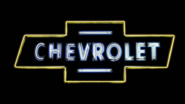 Wall Art - Photograph - Chevrolet Neon Sign by Stephen Stookey