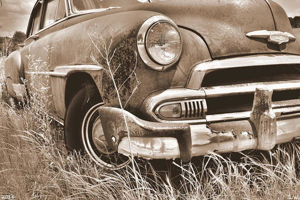 Photograph - Chevrolet Power Glide Sepia 2 by Lisa Wooten