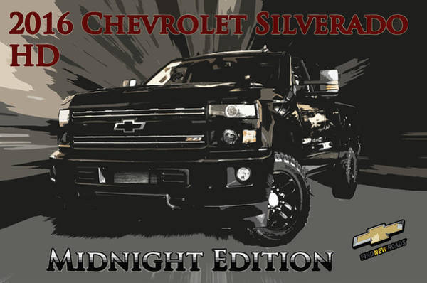 Heavy Duty Truck Wall Art - Photograph - Chevrolet Silverado 2500 Midnight by Adam Kushion