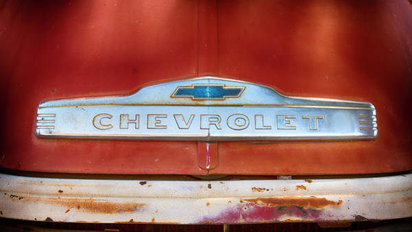 Wall Art - Photograph - Chevrolet  by Stephen Stookey