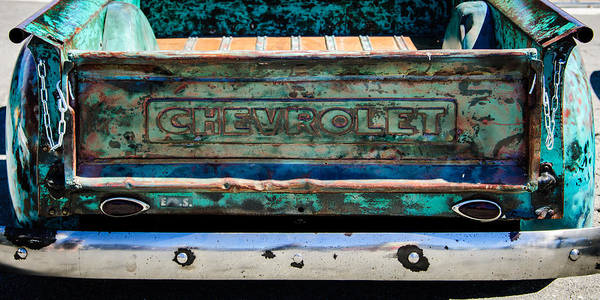 Wall Art - Photograph - Chevrolet Truck Tail Gate Emblem -0839c by Jill Reger