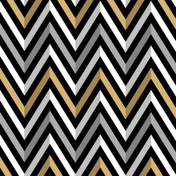 Digital Art - Chevrons by Chuck Staley