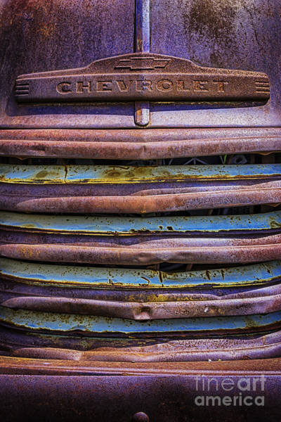 Photograph - Chevy 3100 Grill by Bitter Buffalo Photography