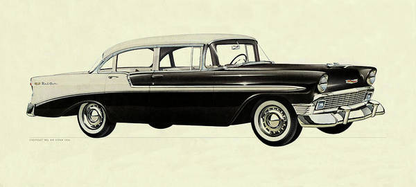 Photograph - Chevy Bel Air 1956 by Andrew Fare