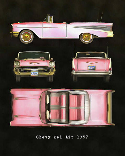 Painting - Chevy Bel Air 1957 by Jan Keteleer