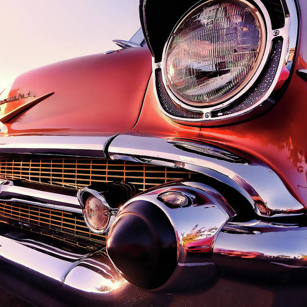 1957 Chevrolet Photograph - Chevy Bel Air Grille And Bumper Detail by Jon Woodhams