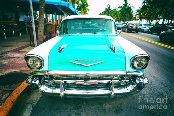 Photograph - Chevy Bel Air South Beach by John Rizzuto