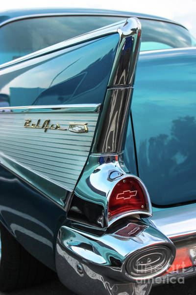 Wall Art - Photograph - Chevy Bel Air Tail Fin by Colleen Kammerer