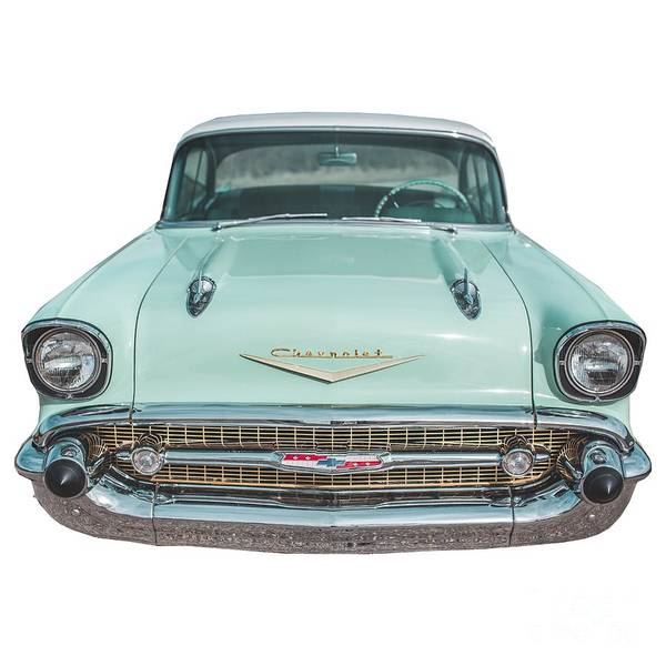 Wall Art - Photograph - Chevy Bel Air Tee by Edward Fielding