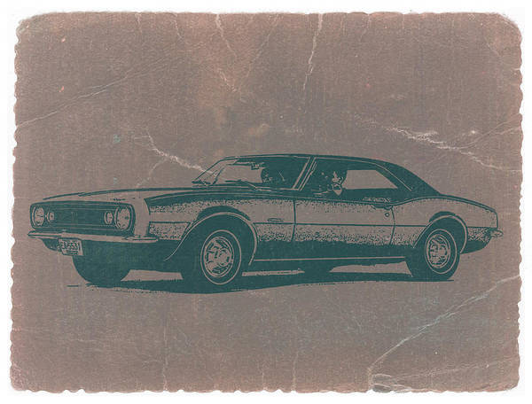 Old Chevy Photograph - Chevy Camaro by Naxart Studio