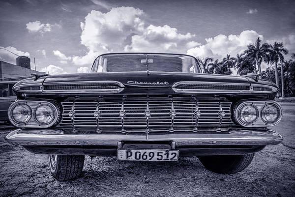 Photograph - Chevy Clasico Havana Cuba by Joan Carroll