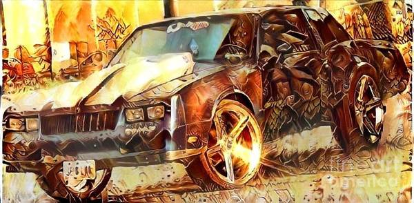 Super Car Mixed Media - Chevy Coupe by Douglas Sacha