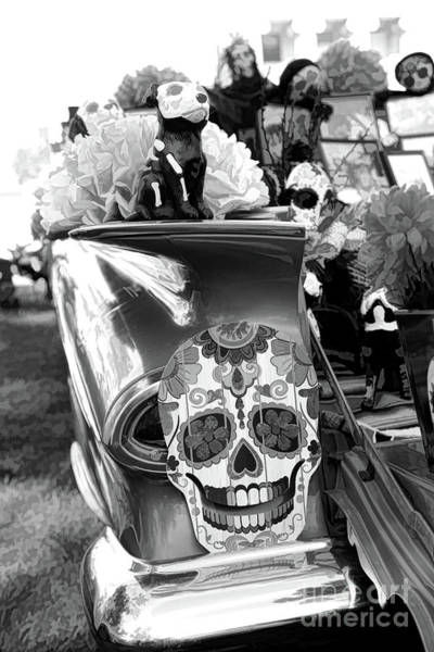 Kahlo Photograph - Chevy Decor Day Of Dead Bw by Chuck Kuhn