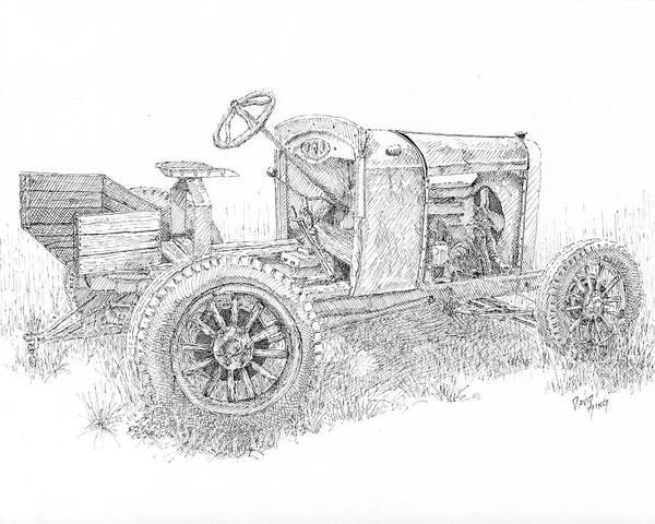 Drawing - Chevy Doodlebug by David King
