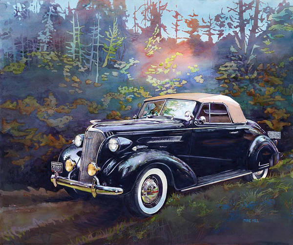 Collector Car Painting - Chevy In The Woods by Mike Hill