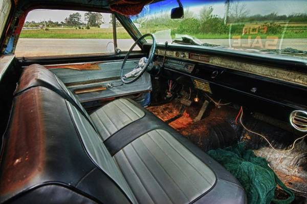 Pick Up Truck Digital Art - Chevy Interior by Michael Thomas