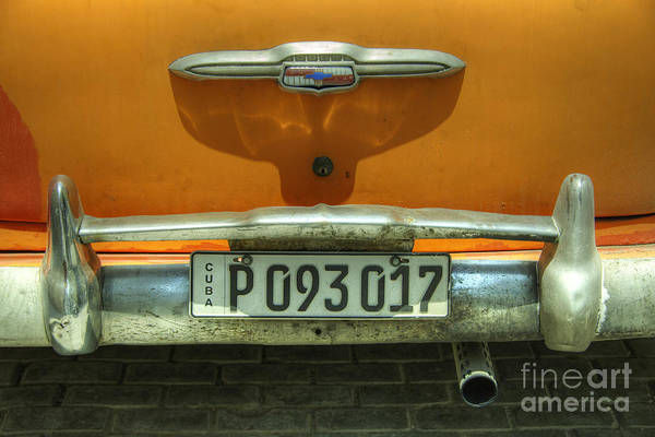 Wall Art - Photograph - Chevy Plate  by Rob Hawkins