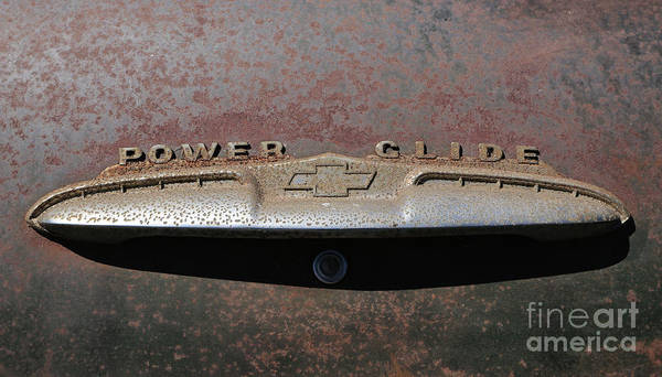 Photograph - Chevy Power Glide Trunk Emblem by Kevin McCarthy