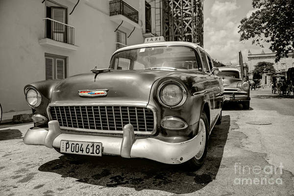 Wall Art - Photograph - Chevy Taxi  by Rob Hawkins