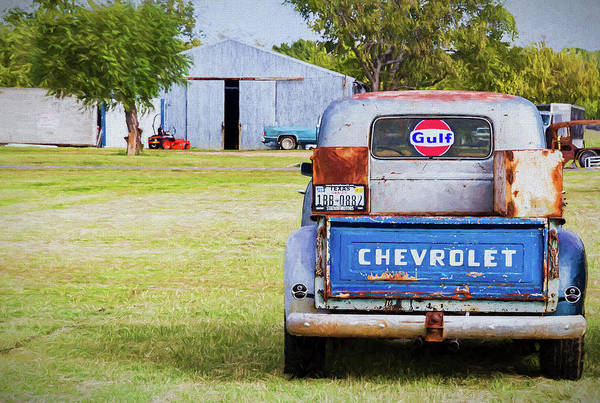 Awesome Show Digital Art - Chevy Work Truck by Timothy Rohman
