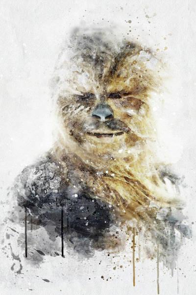 Jedi Digital Art - Chewbacca - Star Wars by Jeffrey St Romain
