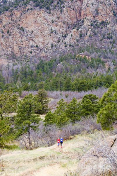 Wall Art - Photograph - Cheyenne Mountain Trail Race Adventure Colorado Springs by Steve Krull