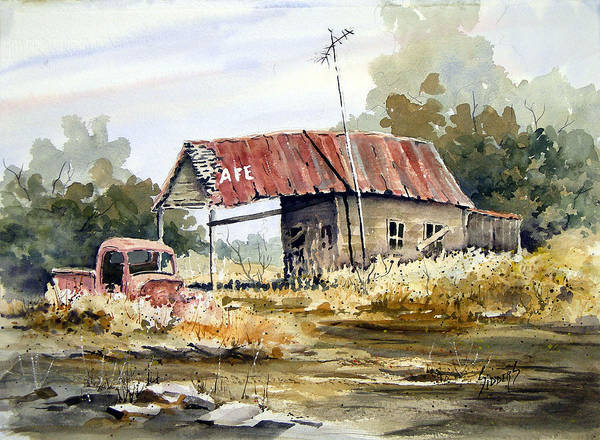 Painting - Cheyenne Valley Station by Sam Sidders