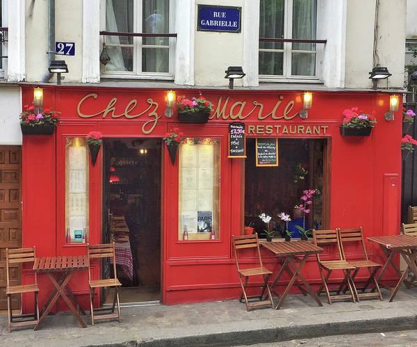 Photograph - Chez Marie Restaurant, Montmartre, Paris by Frank DiMarco