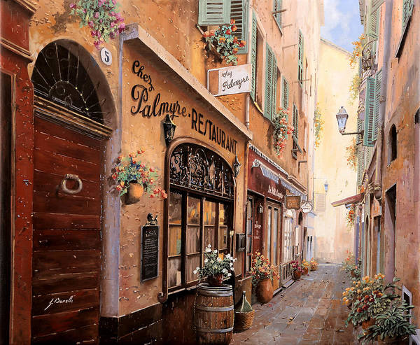 Restaurants Painting - Chez Palmyre  by Guido Borelli