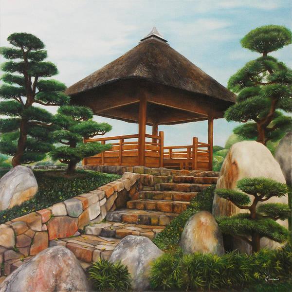 Tranquility Painting - Chi Lin Nunnery Hong Kong by Kathleen Wong