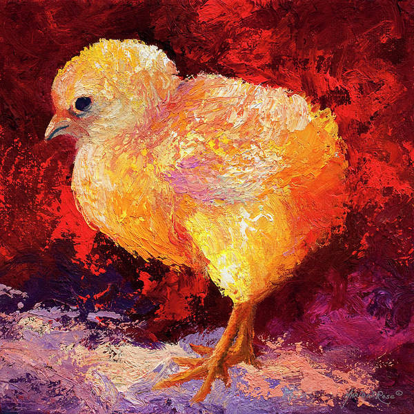 Hen Painting - Chic Flic IIi by Marion Rose