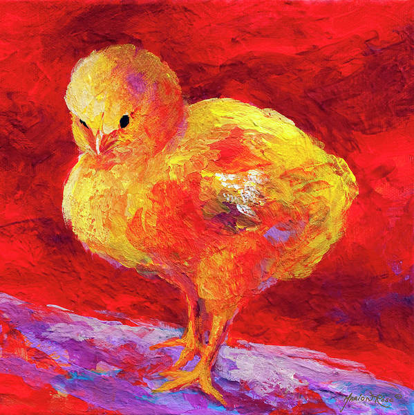 Hen Painting - Chic Flic Vii by Marion Rose