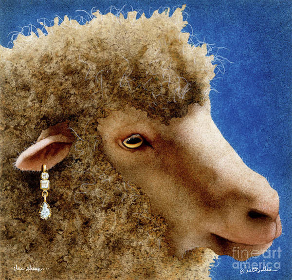 Painting - Chic Sheep... by Will Bullas