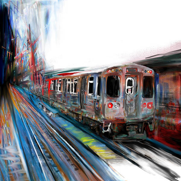 Wall Art - Painting - Chicago 211 1 by Mawra Tahreem