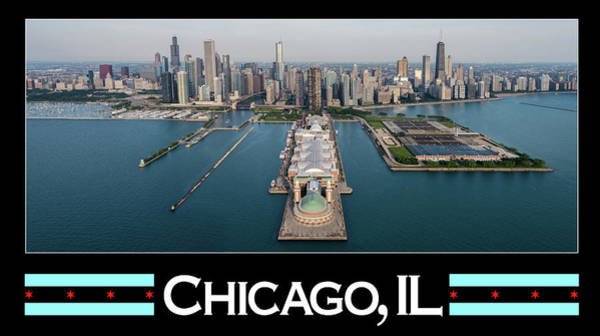 Wall Art - Photograph - Chicago Aerial Poster by Steve Gadomski