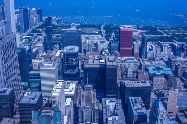 Wall Art - Photograph - Chicago Aerial View  by Art Spectrum