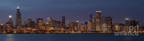 Wall Art - Photograph - Chicago After Dusk by Sandra Bronstein