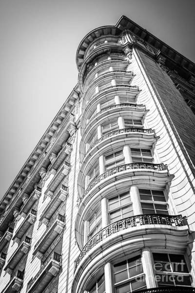 Wall Art - Photograph - Chicago Architecture Black And White Photo by Paul Velgos
