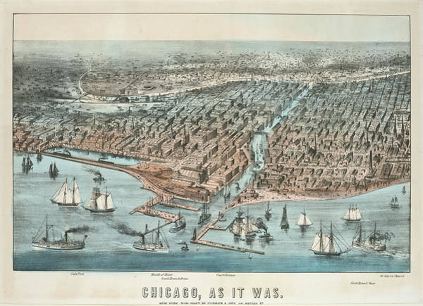 Wall Art - Photograph - Chicago As It Was 1872 by Ricky Barnard