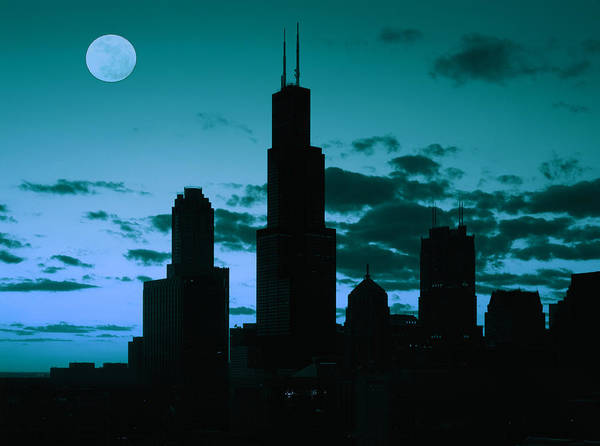 Photograph - Chicago At Night by Artistic Panda