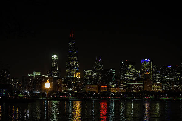 Photograph - Chicago At Night by Sue Conwell