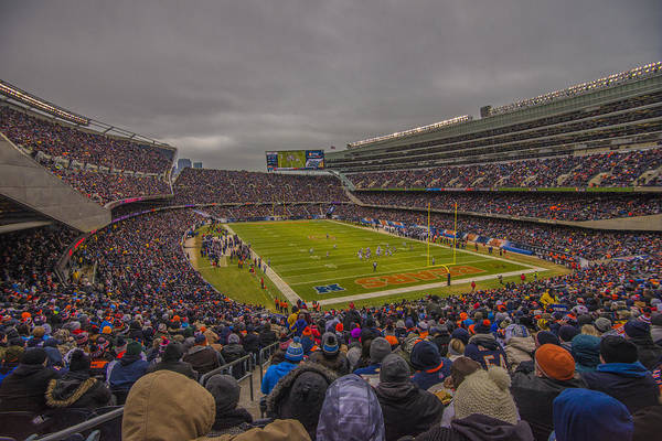 Photograph - Chicago Bears Soldier Field 7837 by David Haskett II