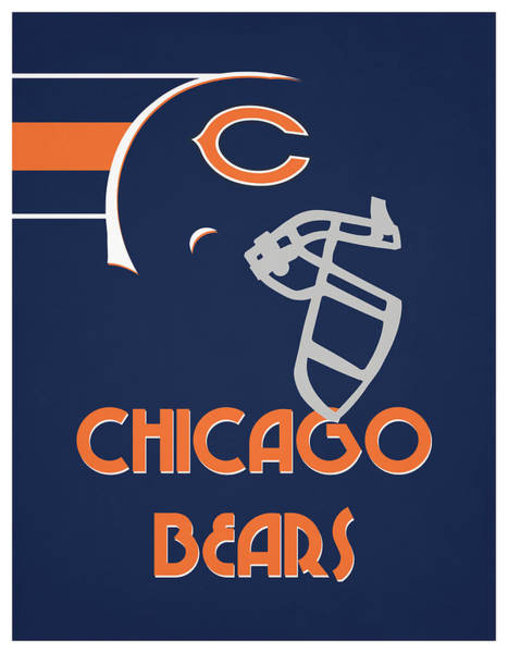 Wall Art - Mixed Media - Chicago Bears Team Vintage Art by Joe Hamilton