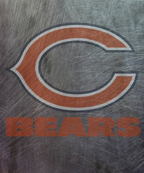 Mixed Media - Chicago Bears Translucent Steel by Movie Poster Prints