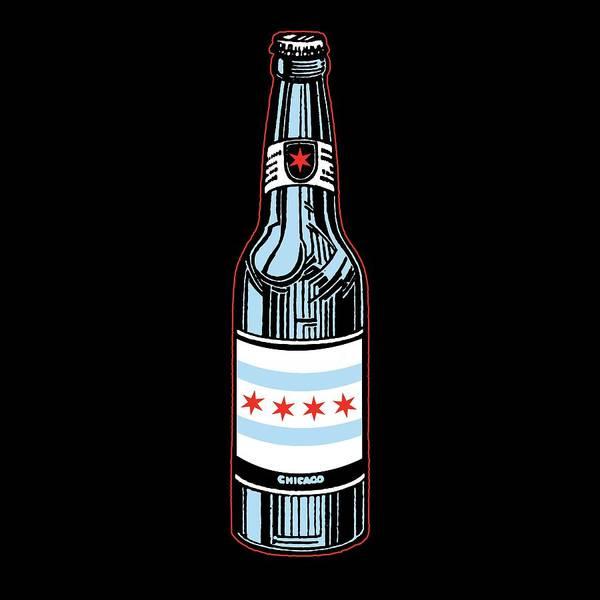 Beers Wall Art - Digital Art - Chicago Beer by Mike Lopez