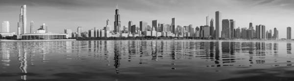 Wall Art - Photograph - Chicago Black And White Morning by Donald Schwartz